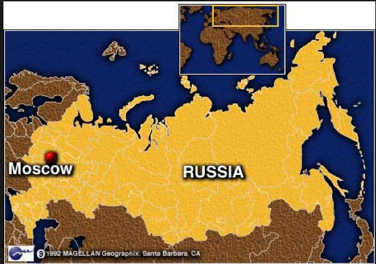 Location Moscow Russia - Russia location